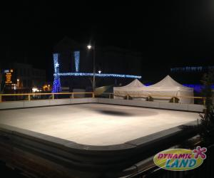 patinoire synthétique rambardes basses 144m²