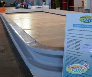 patinoire synthétique rambardes basses 108m²
