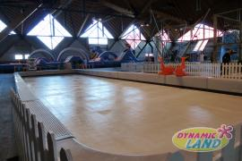 patinoire synthétique rambardes basses 72m²